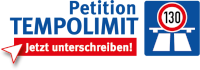 "Aktionslogo ""Petition Tempolimit 130"""